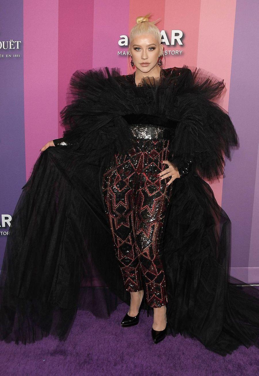 Christina Aguileraau gala de l'amfAR à Los Angeles le 10 octobre 2019