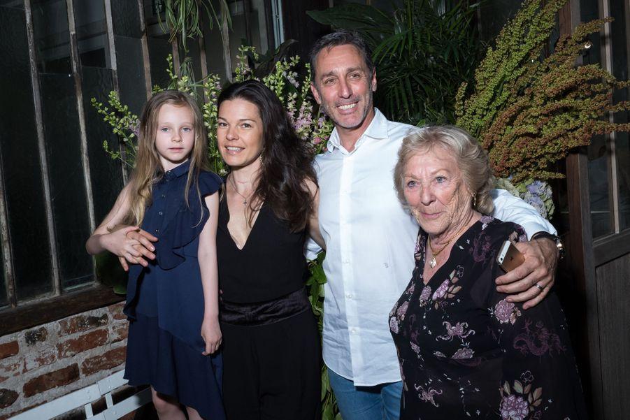 Daniel Ducruet avec sa mère Maguy Ducruet, sa femme Kelly-Marie et sa fille Linouéau défilé Alter à Paris le 18 juin 2019.