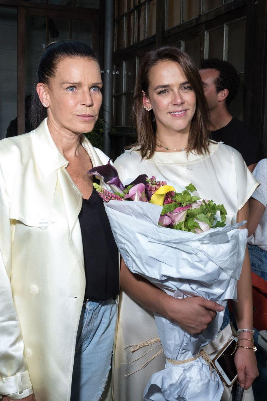 Pauline Ducruet et sa mère Stéphanie de Monacoau défilé Alter à Paris le 18 juin 2019.