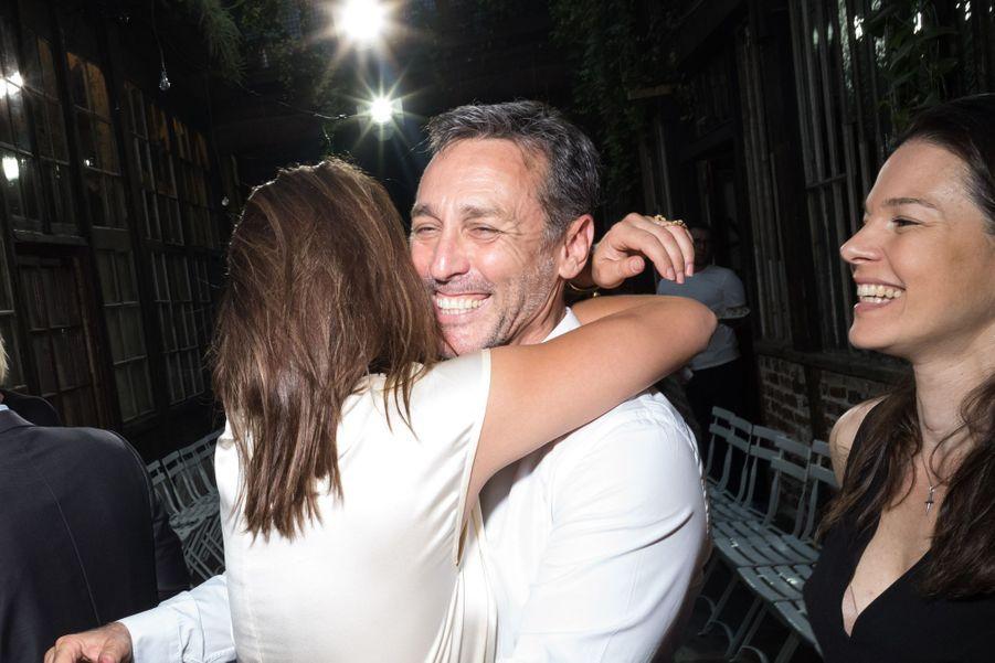 Pauline Ducruet et son père Danielau défilé Alter à Paris le 18 juin 2019.