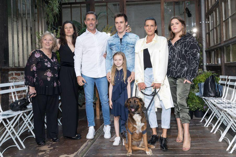 Maguy Ducruet, Kelly-Marie et son mari Daniel Ducruet, Linoué Ducruet, Louis Ducruet, la princesse Stéphanie de Monaco, Camille Gottliebau défilé Alter à Paris le 18 juin 2019.