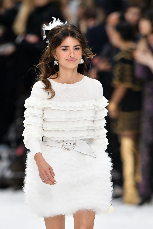 Penélope Cruz lors du défilé Chanel à Paris, le 5 mars 2019