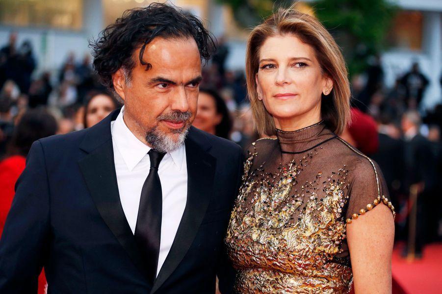 Alejandro Gonzalez Inarritu et sa femme.