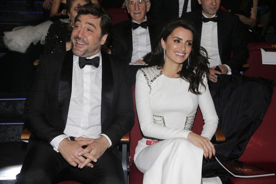 Penélope Cruz et Javier Bardem aux Goya, le 3 février 2018.