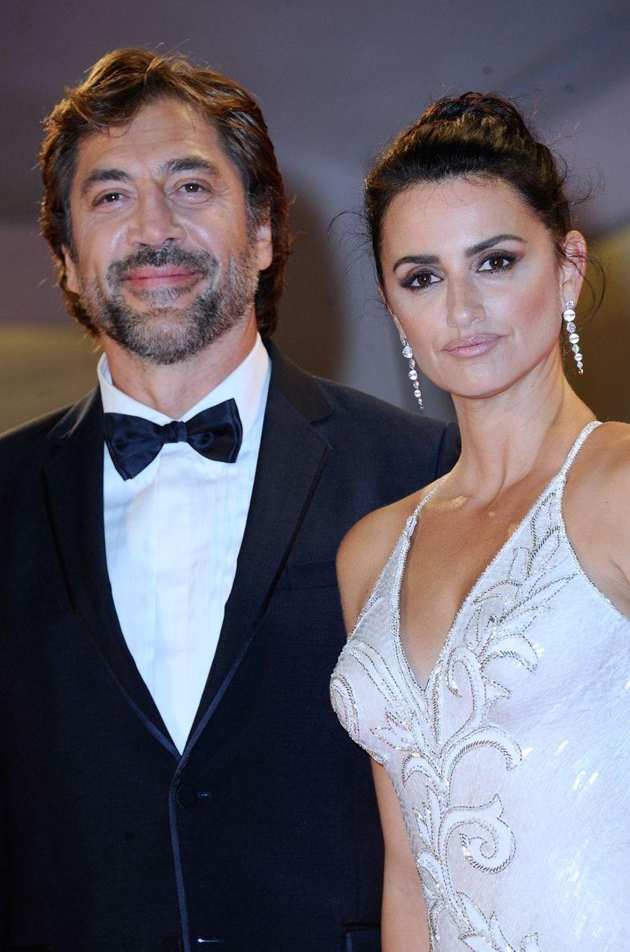 """Penélope Cruz et Javier Bardem à l'avant-première de """"Loving Pablo"""", à Venise le 6 septembre 2017."""