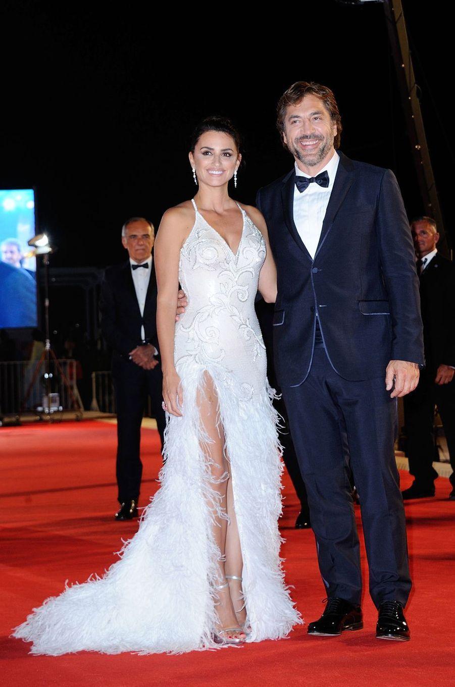 Penélope Cruz et Javier Bardem à Venise, le 6 septembre 2017.