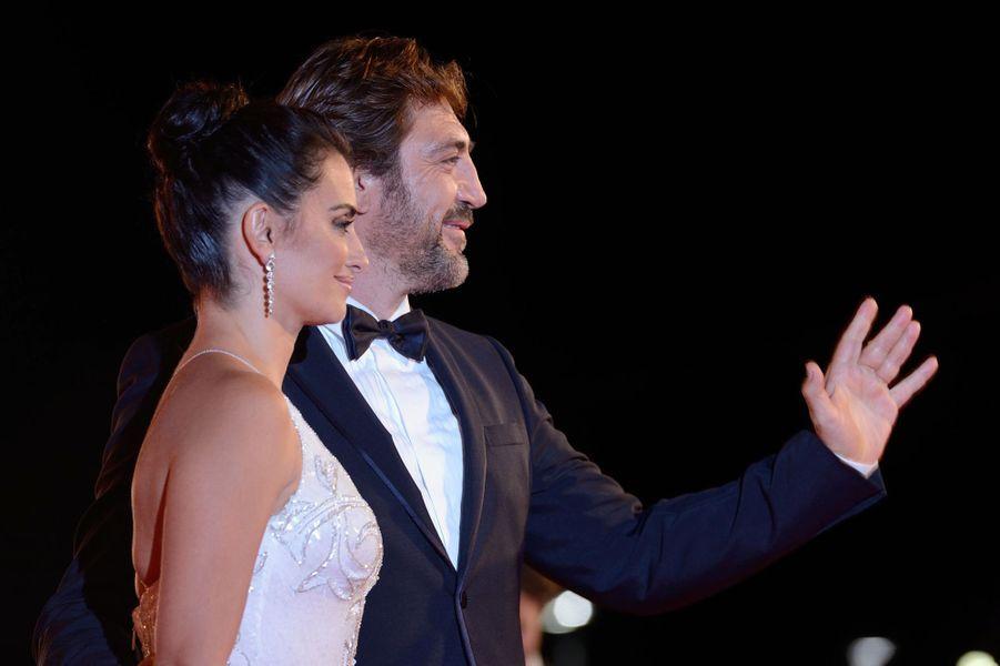 Penélope Cruz et Javier Bardem au Festival de Venise, le 6 septembre 2017.