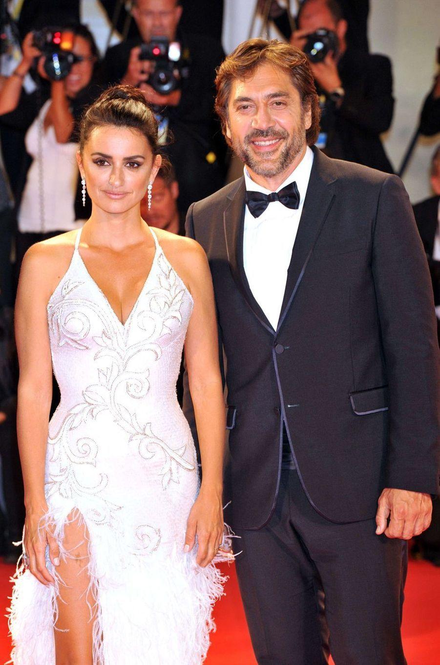 Penélope Cruz et Javier Bardem à la Mostra de Venise, le 6 septembre 2017.