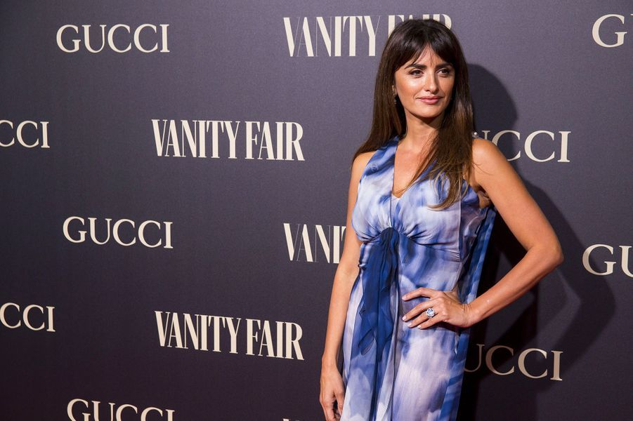 """Penélope Cruz à la soirée """"Vanity Fair"""" à Madrid, en Espagne, mercredi 26 septembre"""