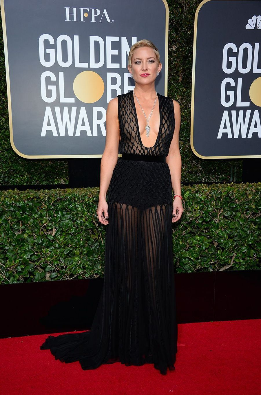 Kate Hudson dans une robe Valentino aux Golden Globes 2018