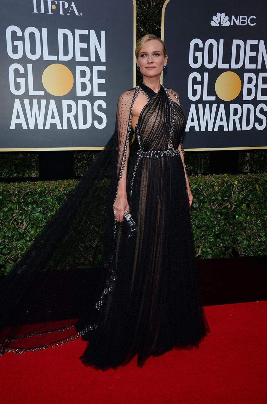 Diane Kruger dans une robe Prada aux Golden Globes 2018