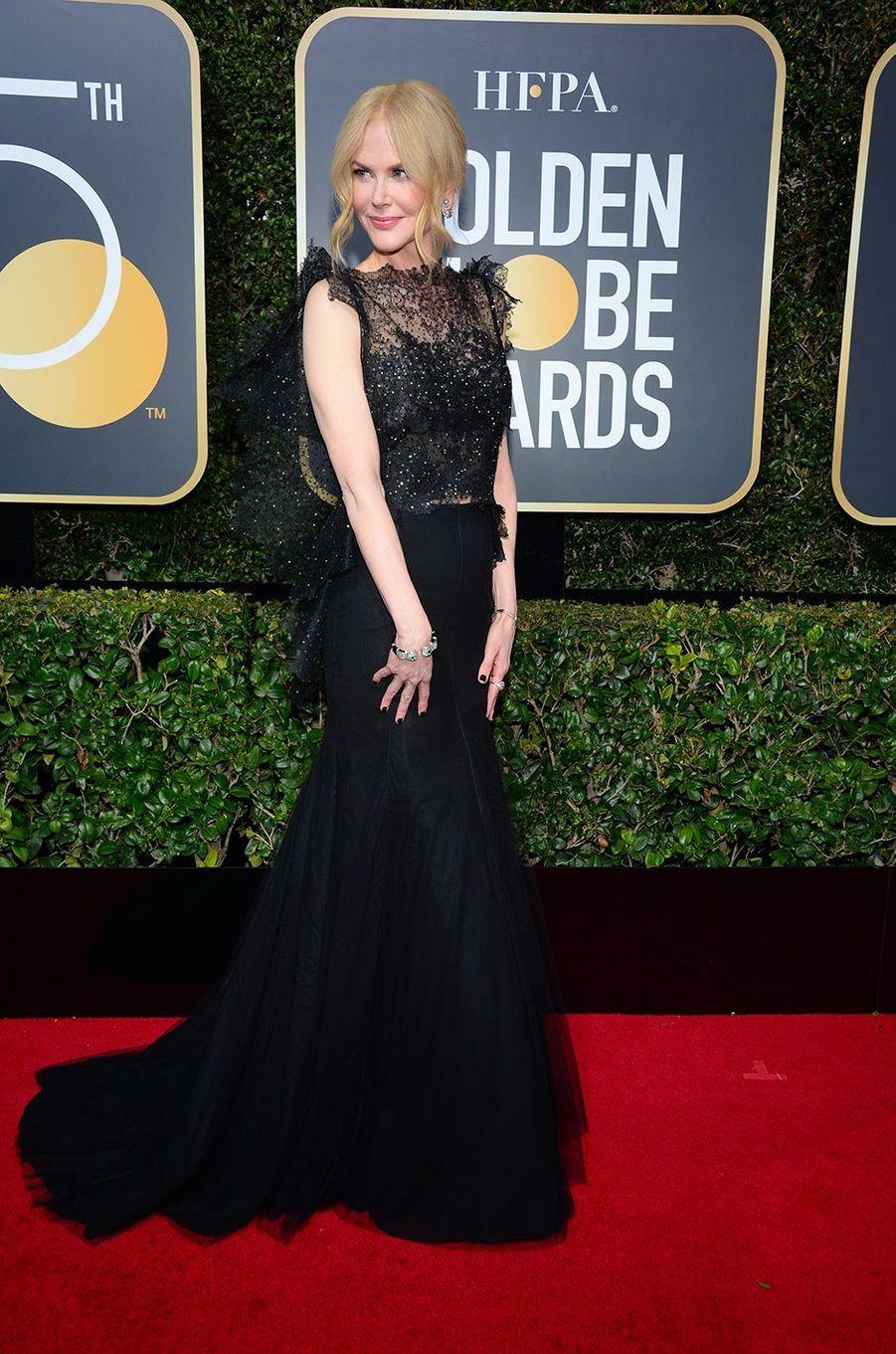 Nicole Kidman dans une robe Givenchy aux Golden Globes 2018