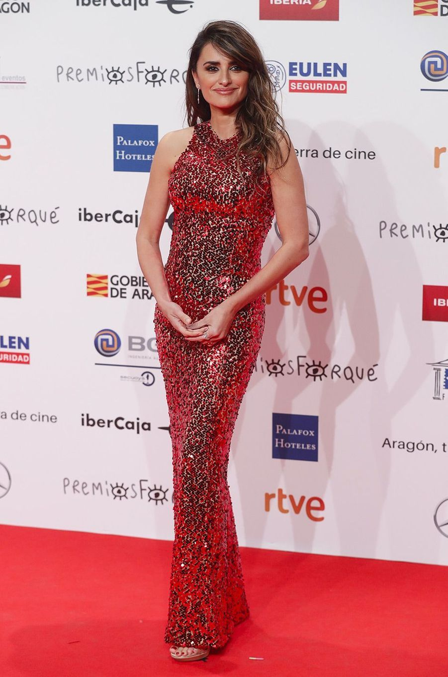 Penélope Cruz à Zaragoza, samedi 12 janvier