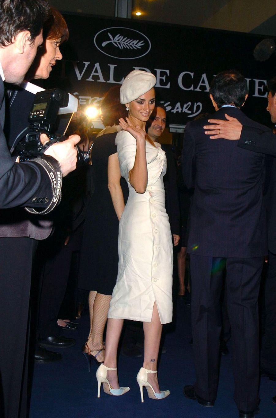 Penélope Cruz au Festival de Cannes en 2004