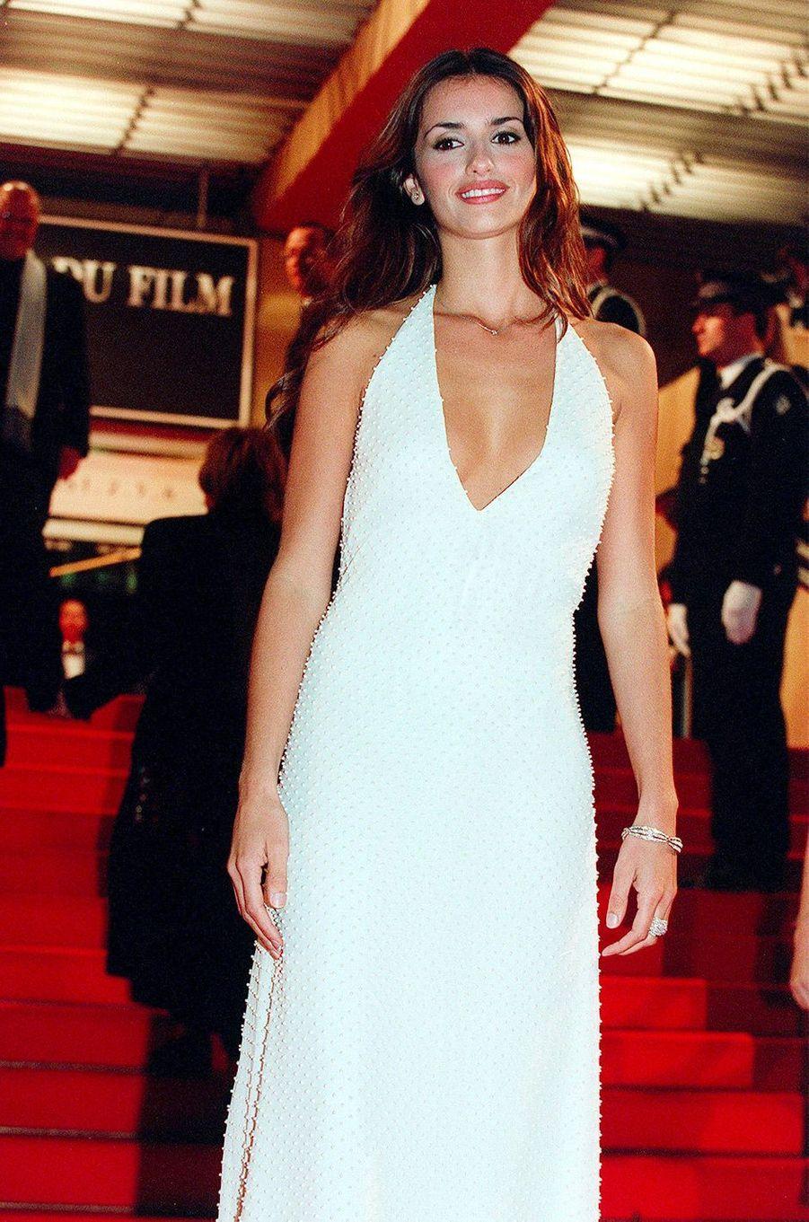 Penélope Cruz au Festival de Cannes en 2000