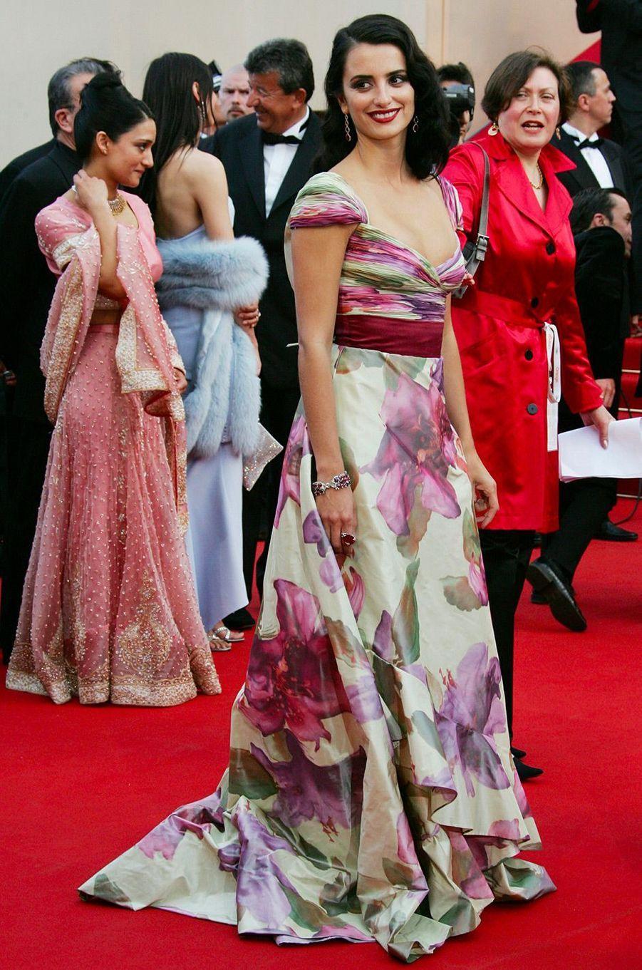 Penélope Cruz au Festival de Cannes en 2005