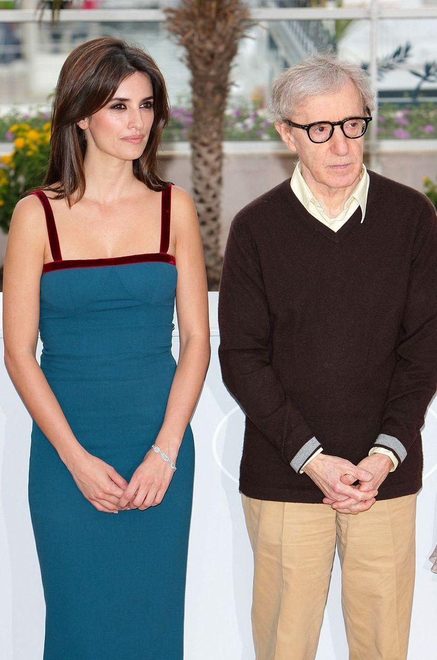 Penélope Cruz avec Woody Allen au Festival de Cannes en 2000