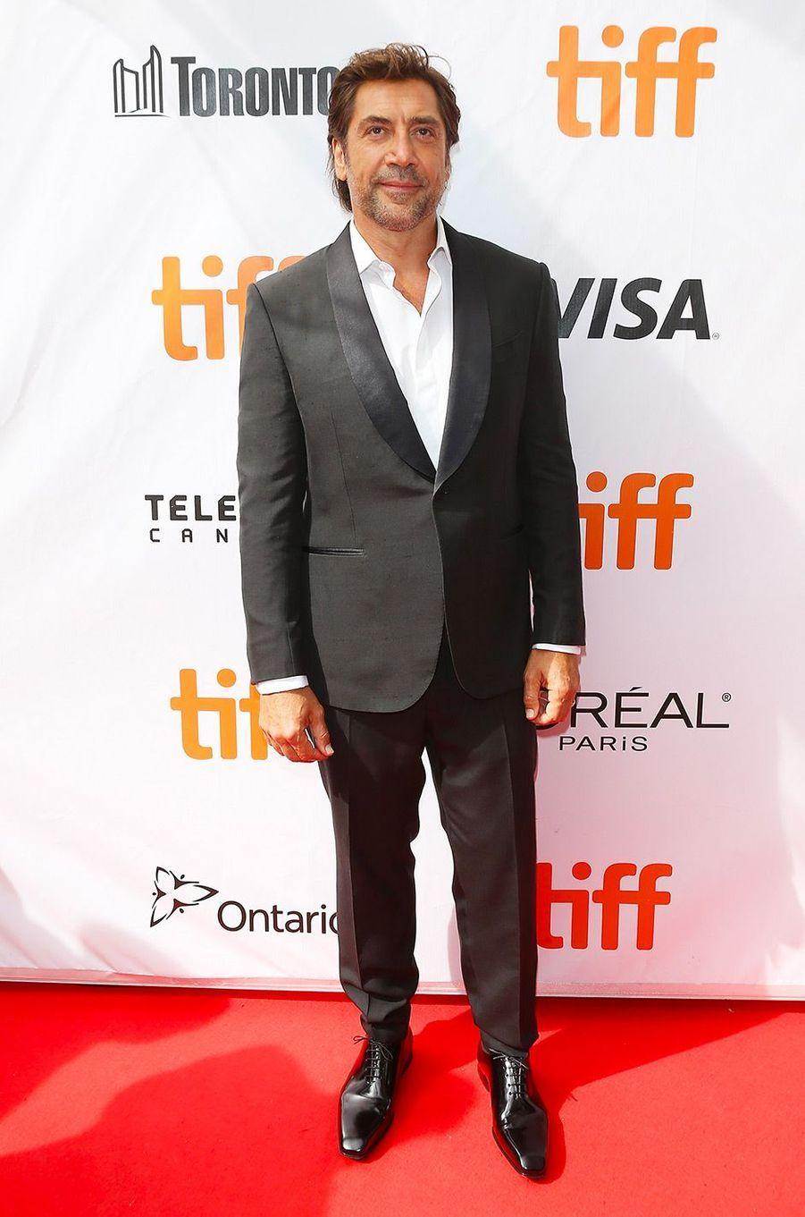 "Javier Bardem présente ""Everybody Knows"" d'Asghar Farhadi au festival de Toronto, samedi 8 septembre"
