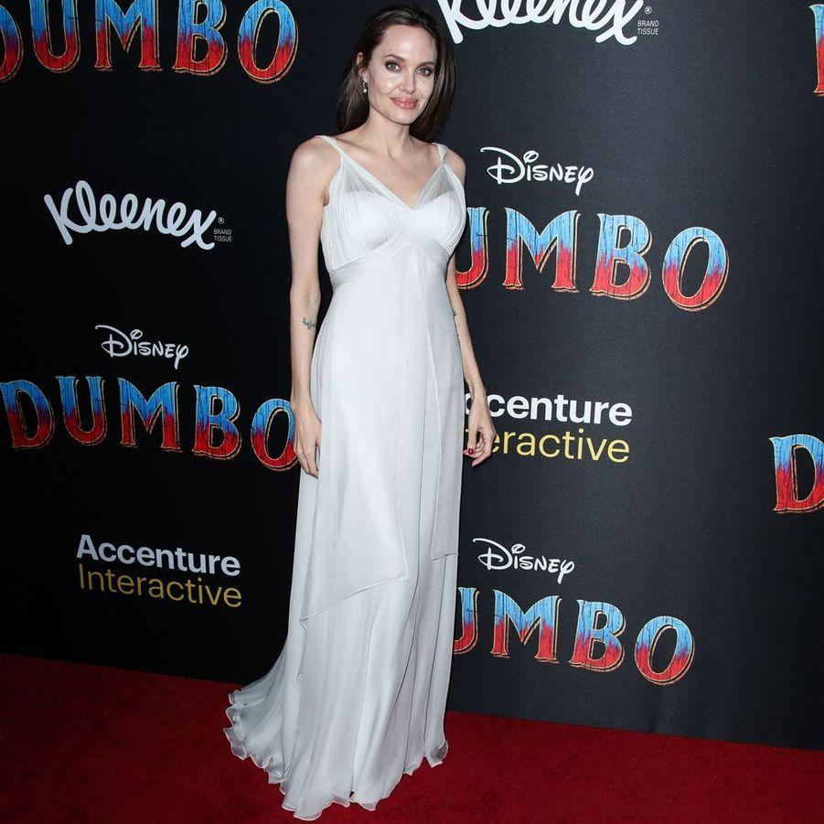 """Angelina Jolie à l'avant-première de """"Dumbo"""" à Los Angeles, le 11 mars 2019"""