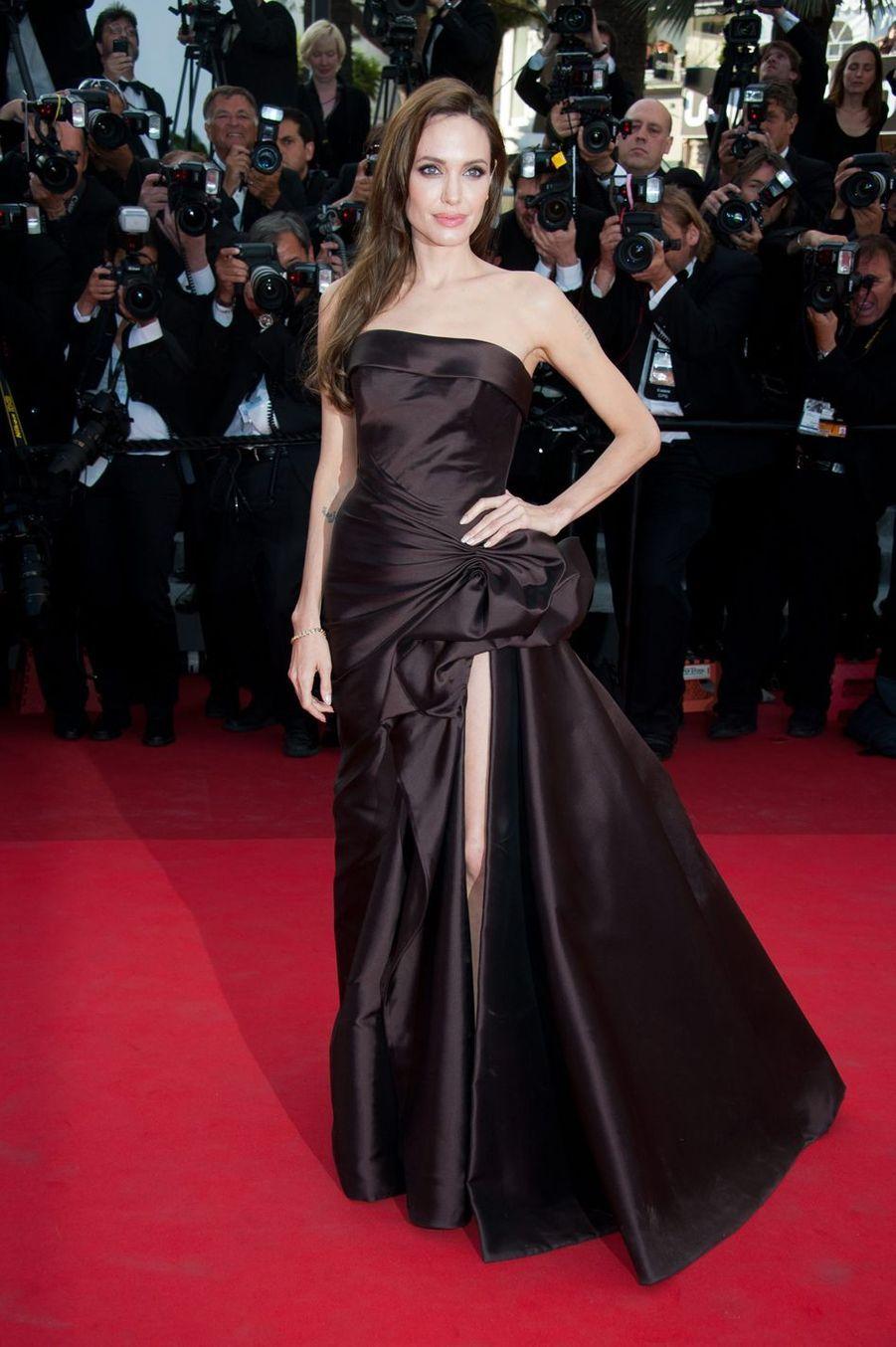 Angelina Jolie lors du Festival de Cannes, le 16 mai 2011