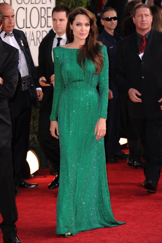 Angelina Jolie lors de la 68e cérémonie des Golden Globe à Los Angeles, le 16 janvier 2011