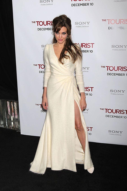 """Angelina Jolie lors de l'avant-première de """"The Tourist"""" à New York, le 6 décembre 2010"""