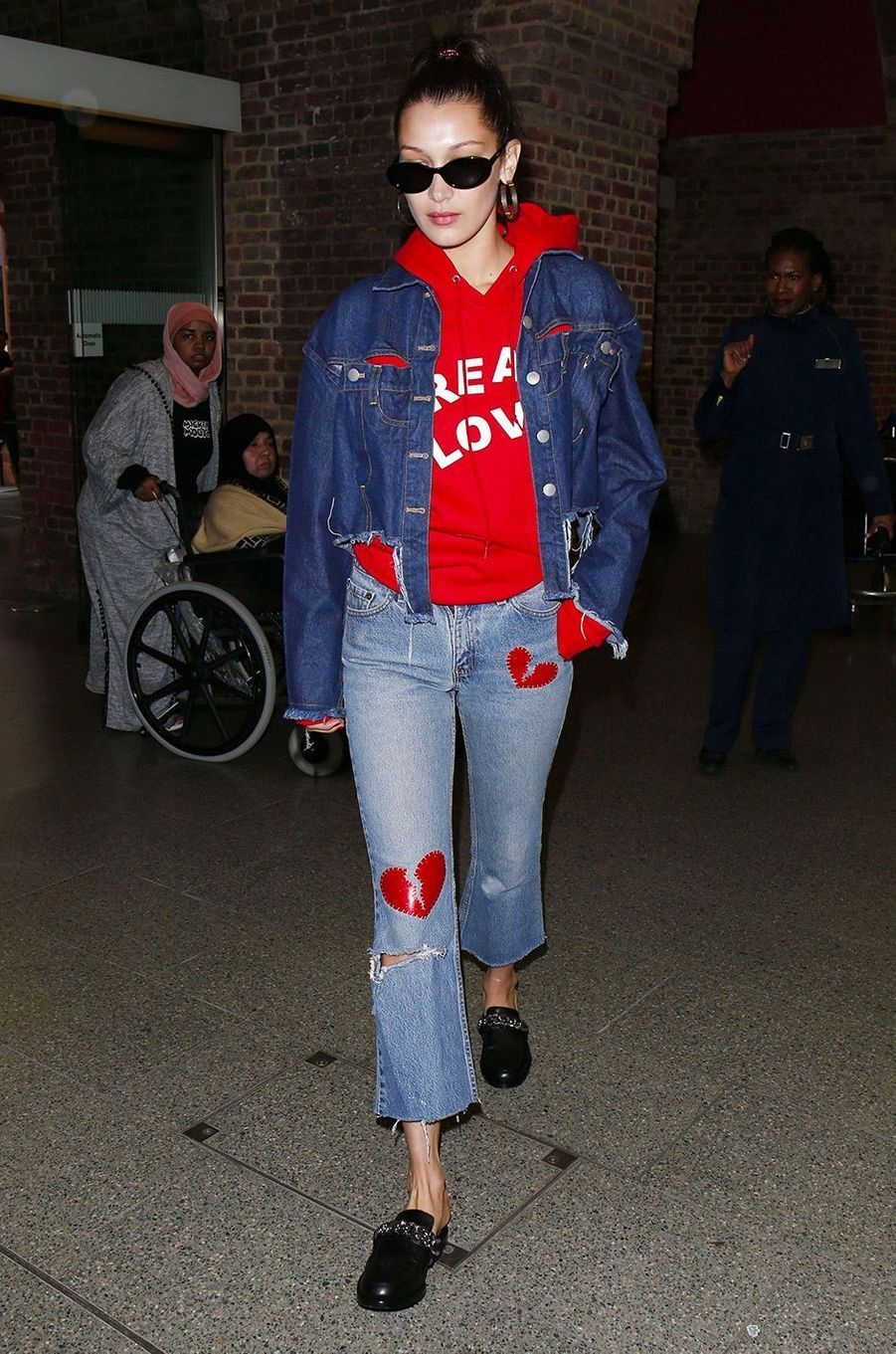 Bella Hadid à Londres en avril 2017