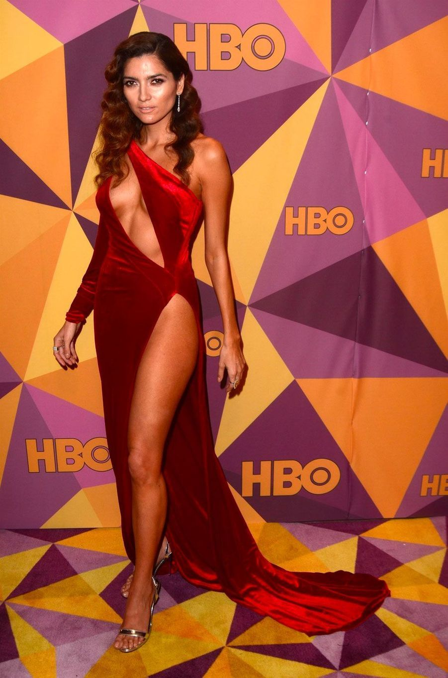 Blanca Blanco au photocall de la soirée HBO's official Golden Globes
