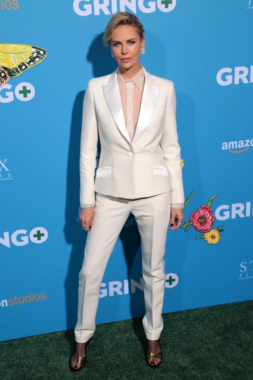 """Charlize Theron à la première de """"Gringo"""" à Los Angeles, le 6 mars 2018"""