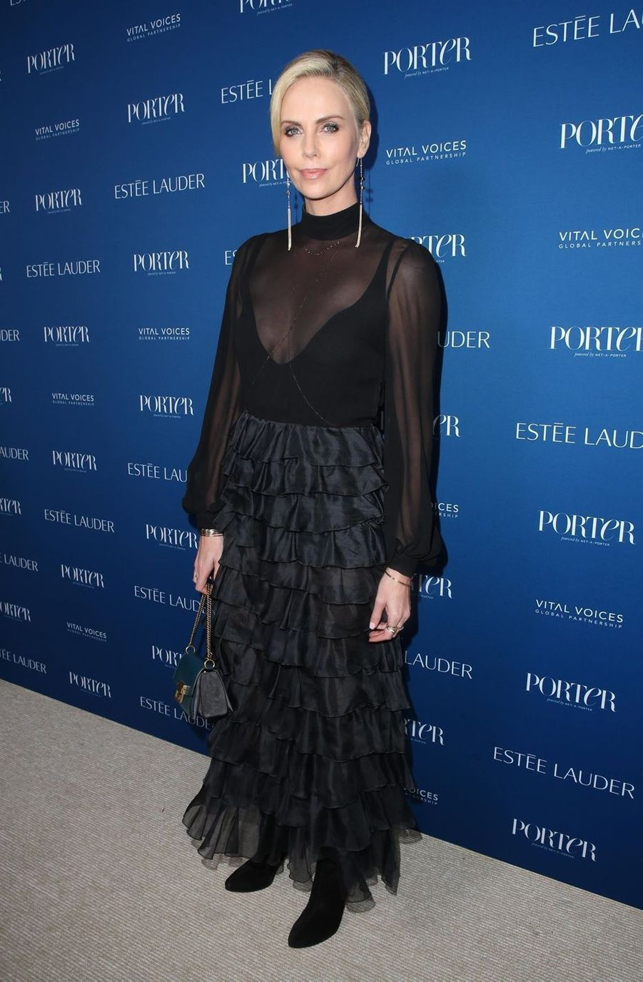 Charlize Theron au gala Porter's Third Annual Incredible Women à Los Angeles, le 9 octobre 2018