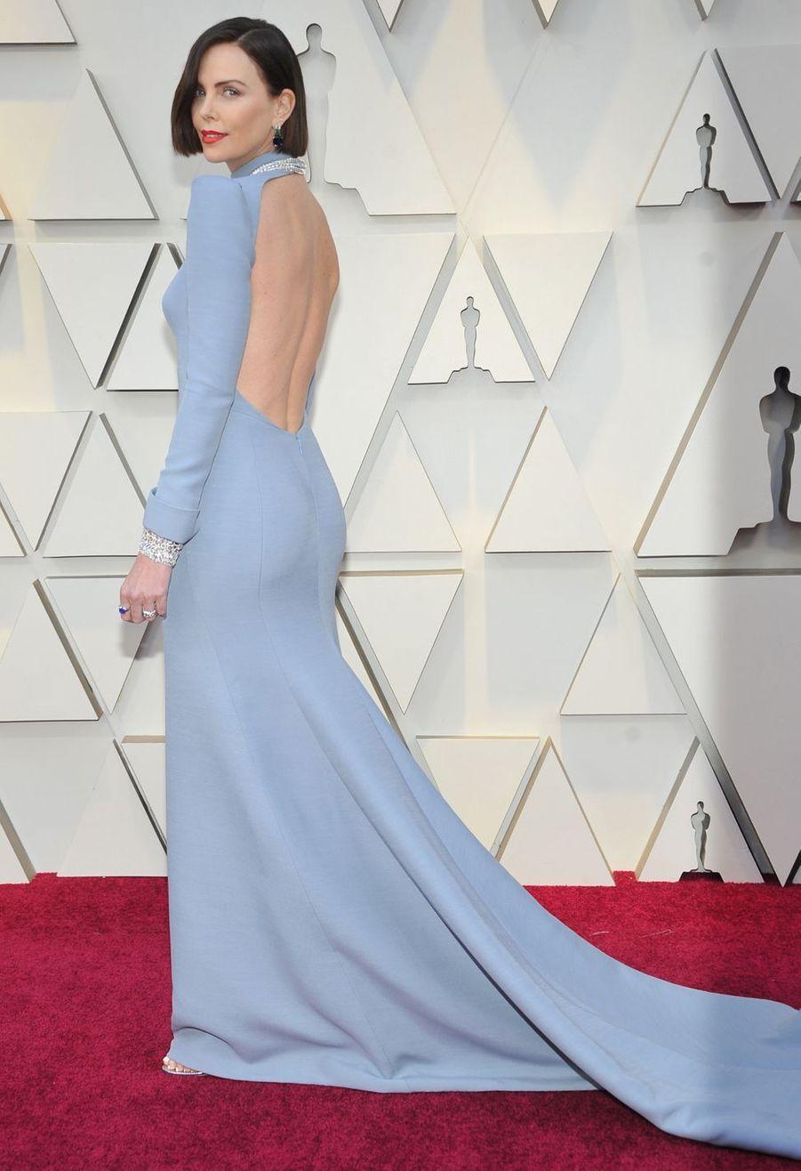 Charlize Theron lors de la 91e cérémonie des Oscars 2019 à Los Angeles, le 24 février 2019