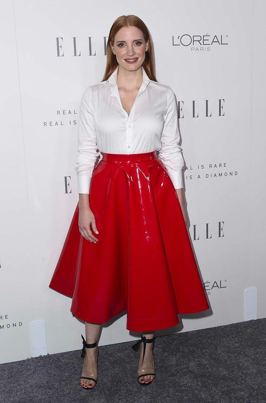 Jessica Chastain en octobre 2017