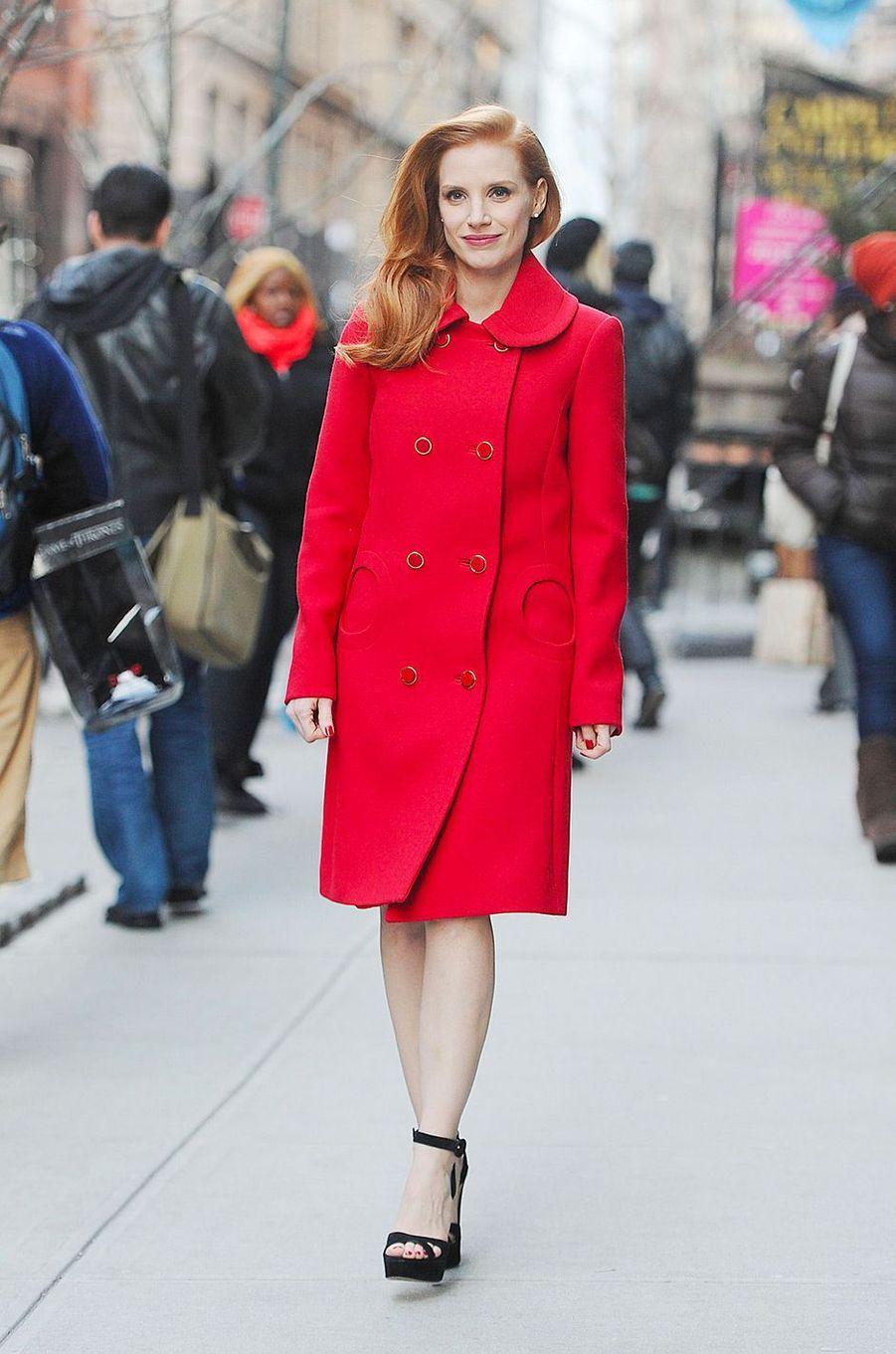 Jessica Chastain en janvier 2013