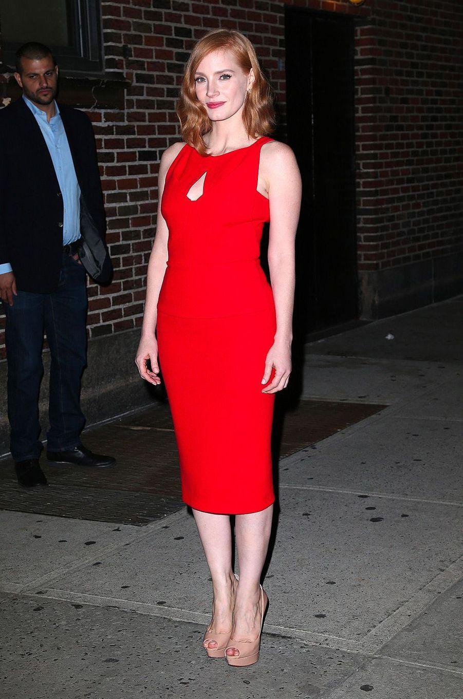 Jessica Chastain en octobre 2015