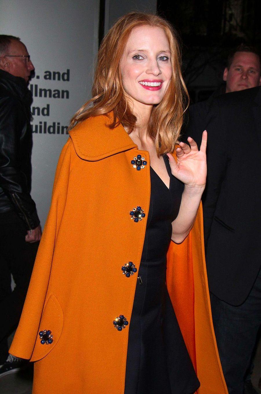 Jessica Chastain en décembre 2016