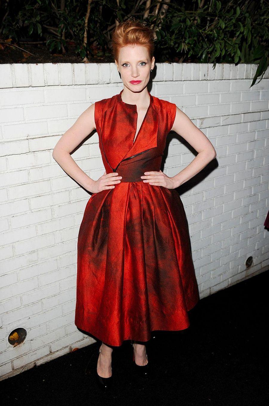 Jessica Chastain en janvier 2011