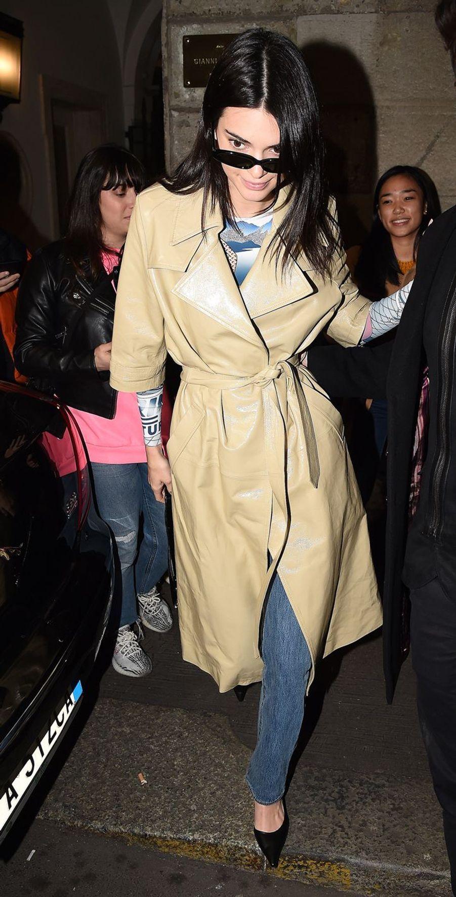 Kendall Jenner à Milan, le 21 février 2019