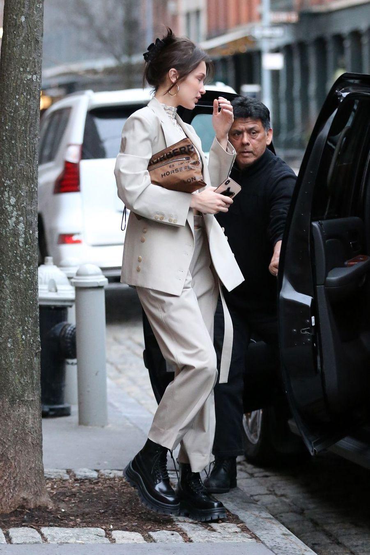 Bella Hadid à New York le 6 février 2019.