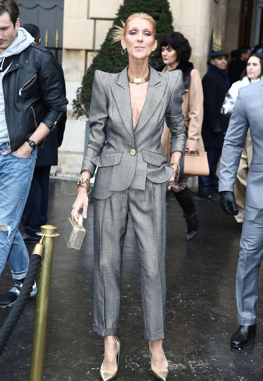 Céline Dion à Paris, le 23 janvier 2019