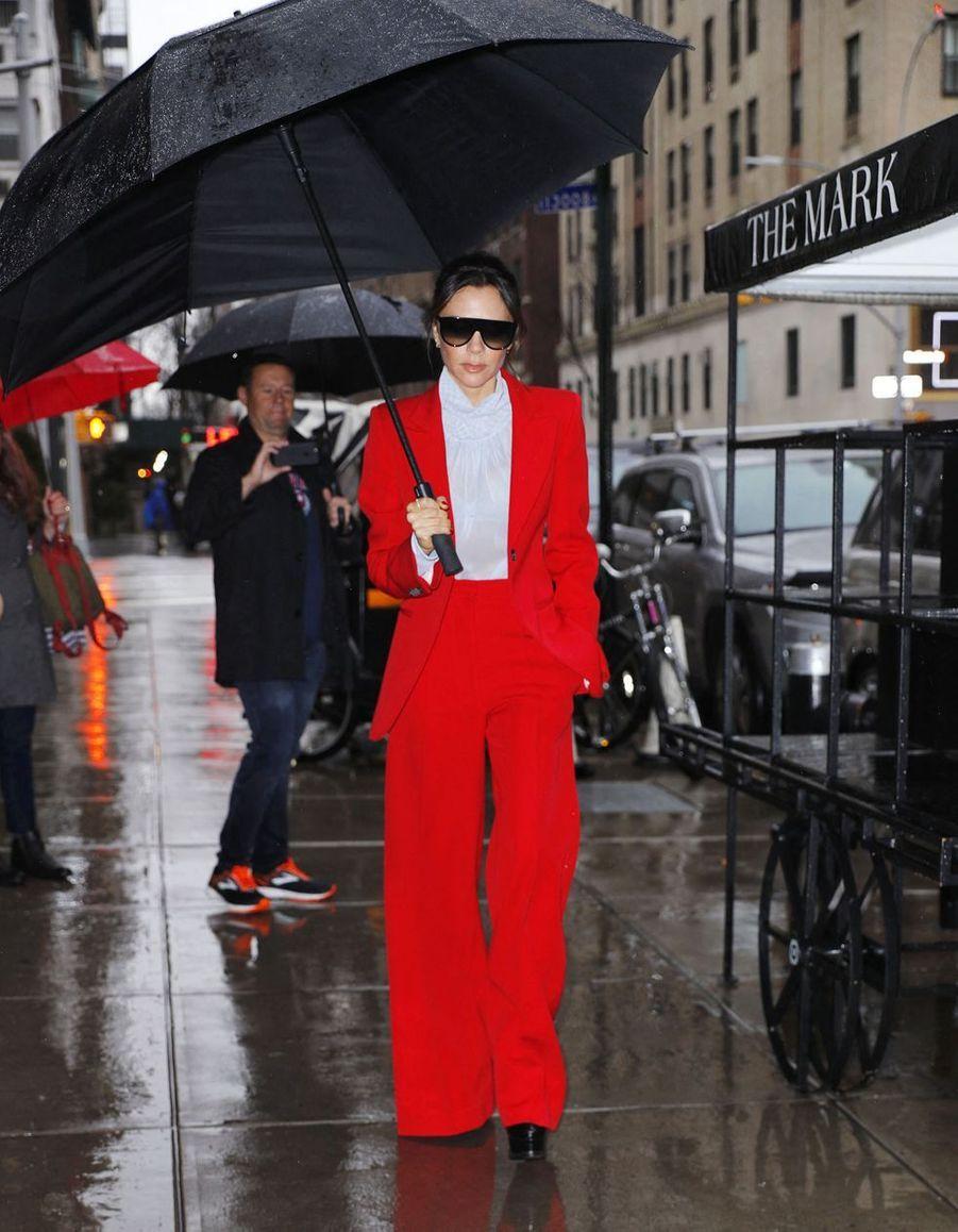 Victoria Beckham à New York, le 24 janvier 2018
