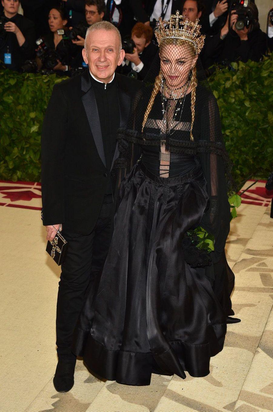 Madonna et Jean Paul Gaultier en 2018
