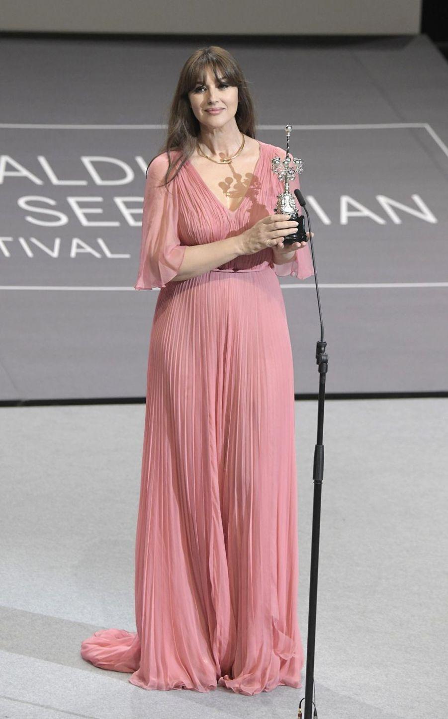 Monica Bellucci lors du 65e Festival du Film de Saint-Sébastien, le 27 septembre 2017