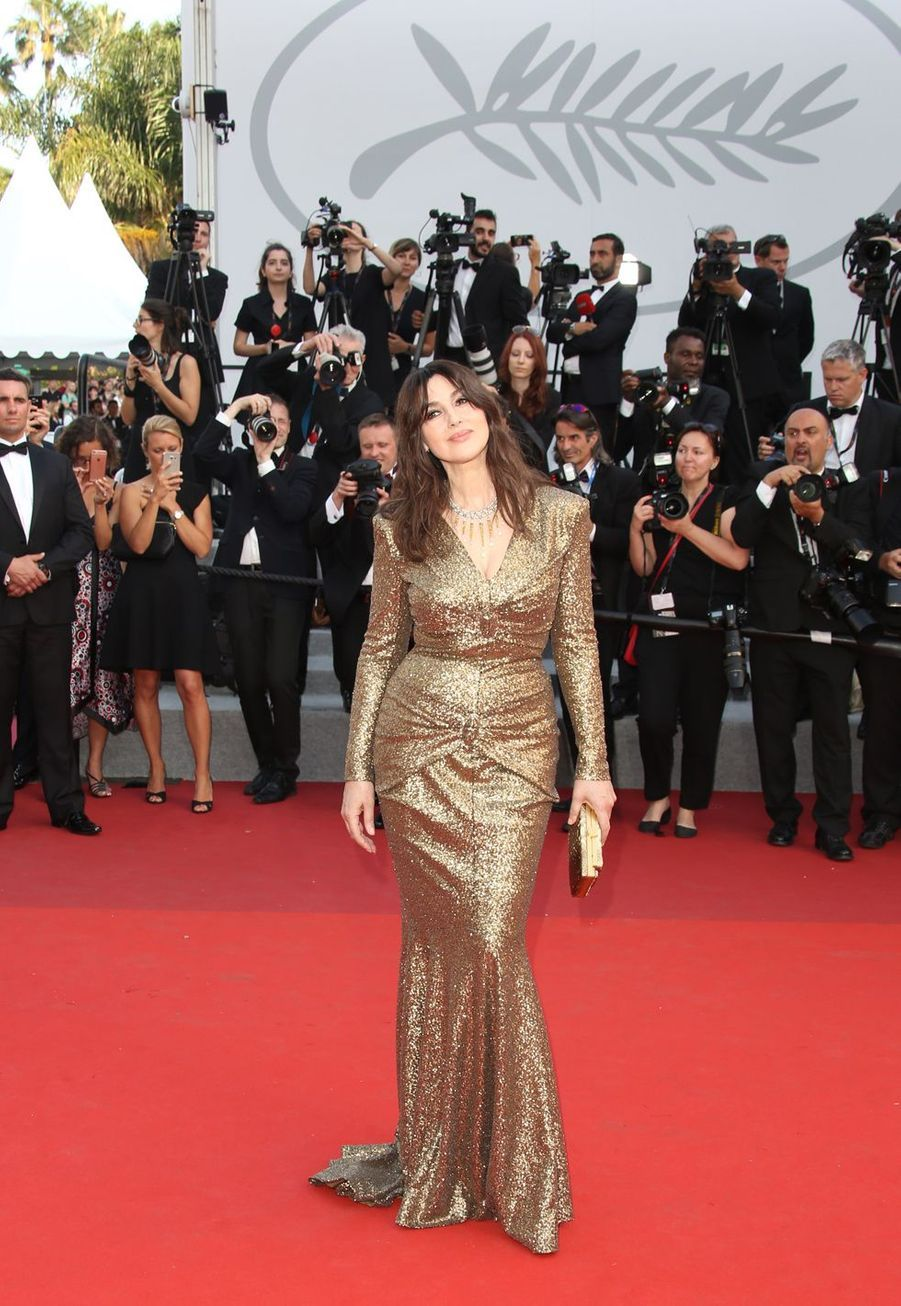 Monica Bellucci à la soirée du 70e Anniversaire du Festival International du Film de Cannes, le 23 mai 2017