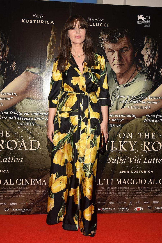 """Monica Bellucci à la première du film """"Milky Road"""" à Milan en Italie, le 8 mai 2017"""
