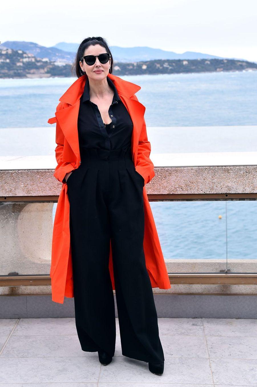 Monica Bellucci au 14e festival du film de Monte-Carlo de la Comédie à Monaco, le 5 mars 2017