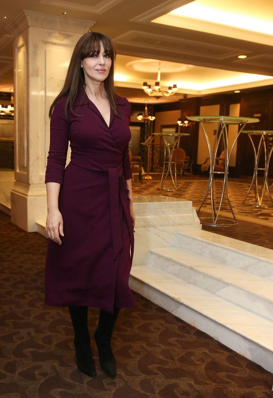 """Monica Bellucci à la conférence de presse du film """"On the Milky Road"""" à Moscou en Russie, le 21 décembre 2016"""