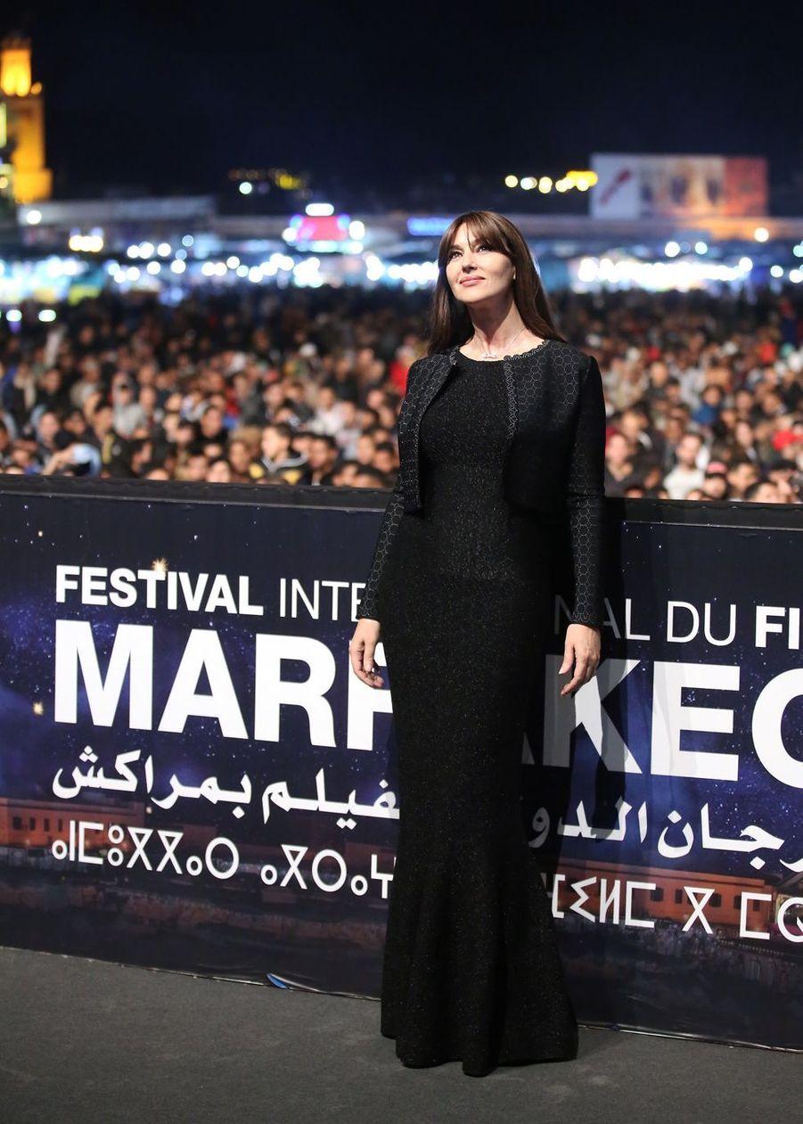 """Monica Bellucci lors de la projection du film """"Asterix et Obelix : Mission Cléopatre"""" au 17e Festival International du Film de Marrakech, le 7 décembre 2018"""