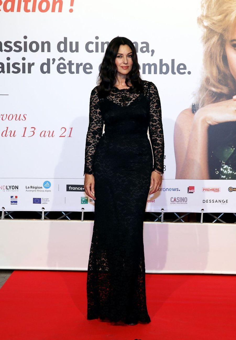 Monica Bellucci au photocall de la cérémonie d'ouverture de la 10ème édition du Festival Lumière à Lyon, France, le 13 octobre 2018