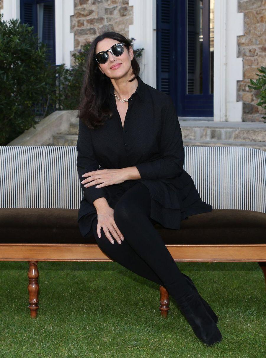 Monica Bellucci pose lors du 29e Festival du Film de Dinard à l'hôtel Barriere de Dinard, le 28 septembre 2018