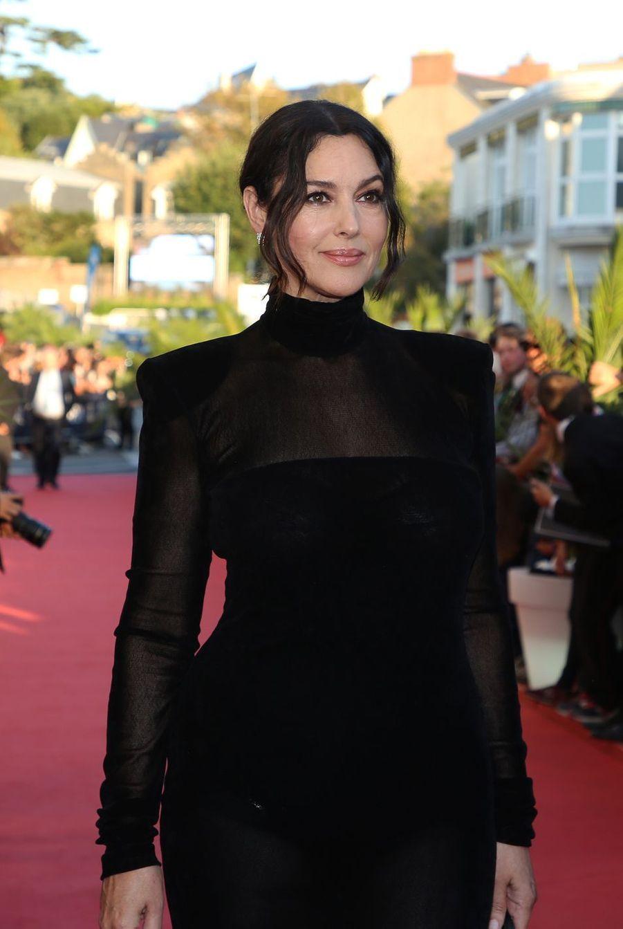 Monica Bellucci à la cérémonie d'ouverture du 29ème Festival du Film de Dinard à l'Hôtel Thalassa de Dinard, le 27 septembre 2018